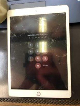 iPad7ガラス割れ修理