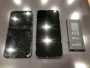 iPhone修理、画面割れとバッテリーと交換同時で最大2,000円OFF【香川県坂出市からのお客様】
