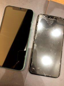 iPhoneXSMAXの画面交換・割れた時は早めに修理を!!・善通寺市のお客様