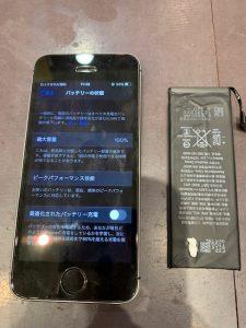 バッテリー交換をしたiPhoneSE