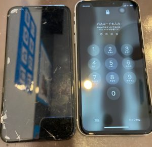 iPhoneXR・画面交換・高松市よりお越しのお客様