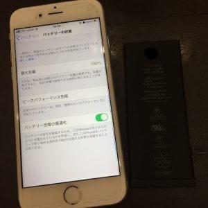 iPhone6Sのバッテリー交換・起動しなくなってしまった端末・さぬき市のお客様