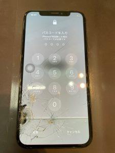 画面が故障したiPhoneXs
