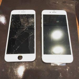 画面交換したiPhone8