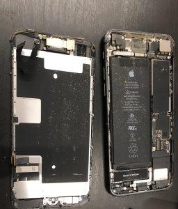 アイフォン内部にゴミが入った状態