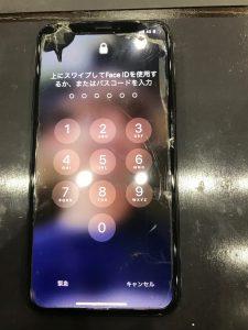 ガラス割れ液晶漏れiPhoneX