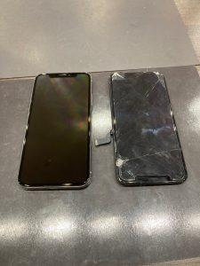 アイフォーンX 画面割れ修理
