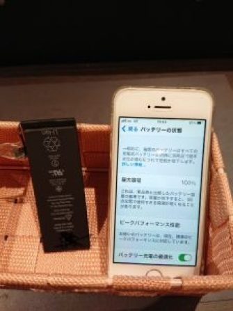 iPhoneSE バッテリー交換 電池交換