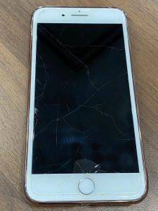 iPhone7Pガラスコーティング施工前