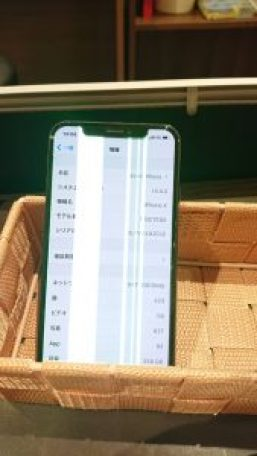 iPhoneX バッテリー 画面