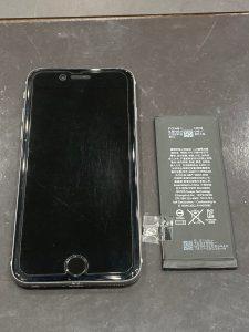 アイフォーン6s バッテリー交換 四日市市