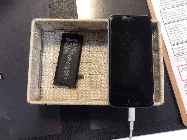 iPhone6 バッテリー交換[池田市からのご来店]
