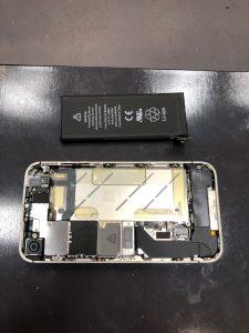 iPhone4S電池交換