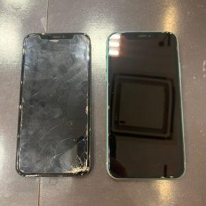 画面交換をしたiPhone11