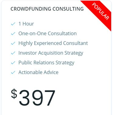 crowdfunding consulting services