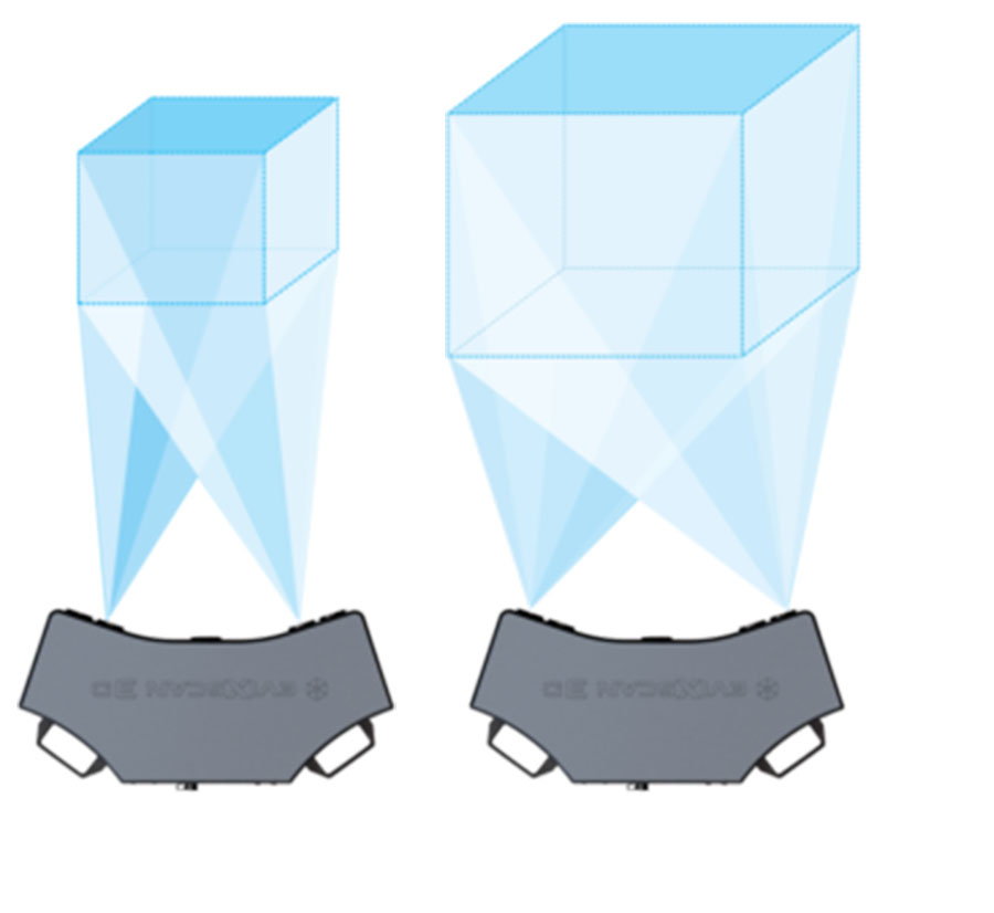 eviXscan 3D Pro+ 3D scanner - 3 scanning ranges