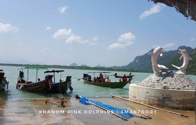 The long tail boats take visitors out to sea for dolphin spotting.