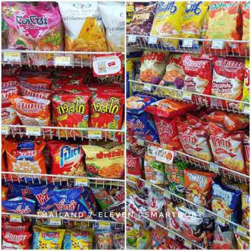 Snacks in 7-Eleven Thailand