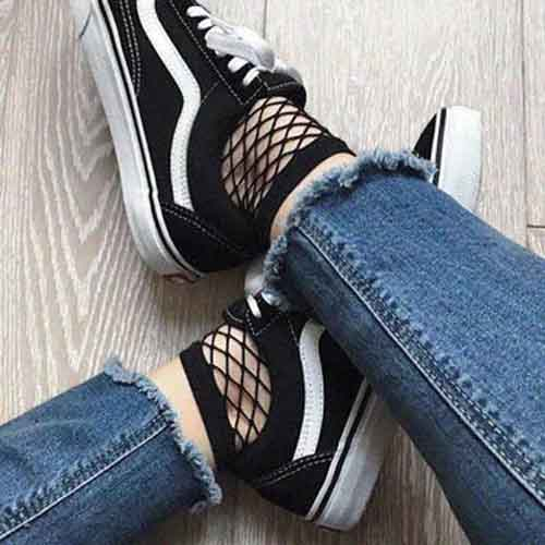 Ankle High Mesh Fishnet Socks is best for walking in Asia
