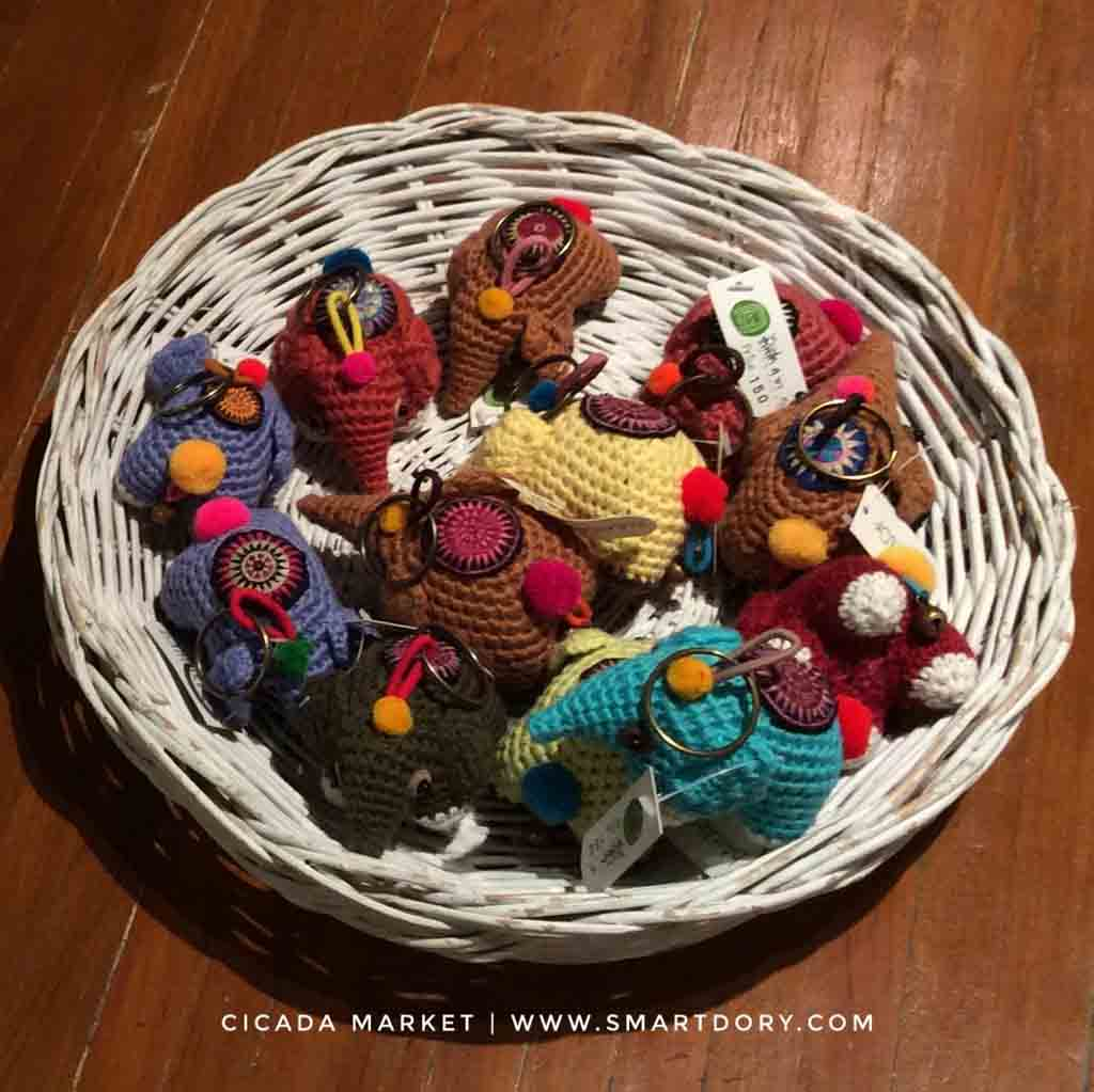 Cicada Market Hua Hin Performing Arts Artist Crafts Scene_Crochet Fridge Magnets