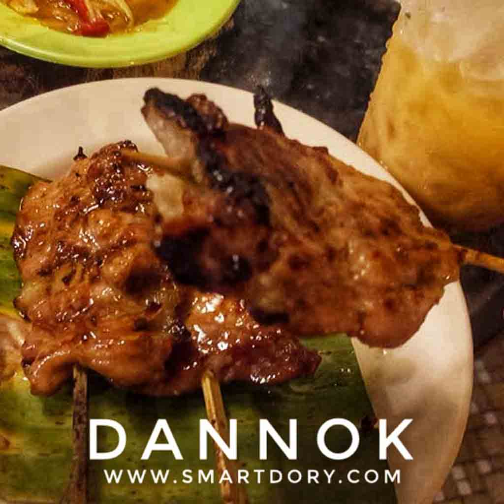 Top 10 Street Foods in Dannok Songkhla Province_Moo Ping (Thai Grilled Pork Skewers)