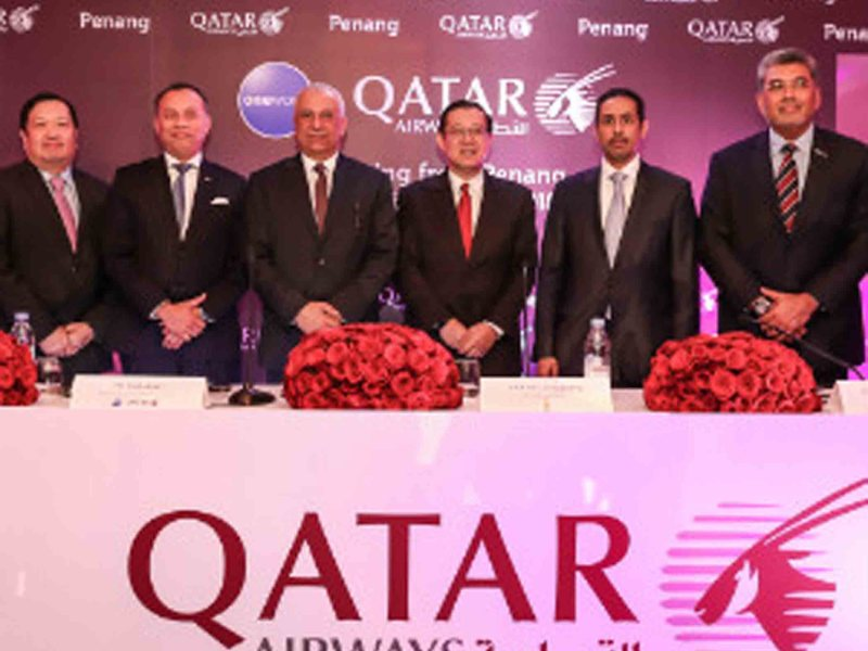 Qatar Airways' Inaugural Direct Flight to Penang Touches Down
