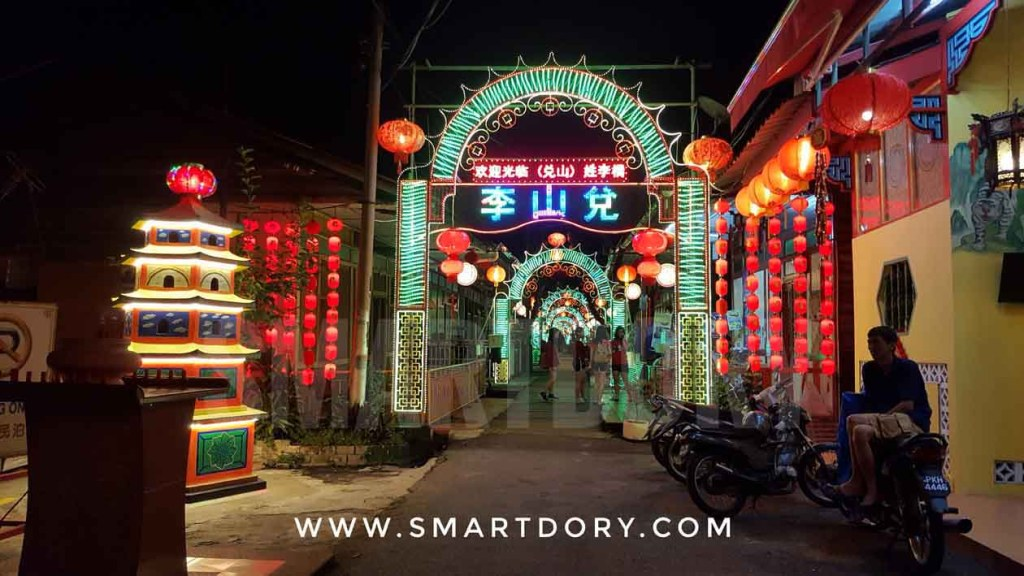 Check out Chew Jetty Penang at night for a different view