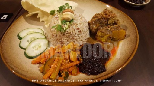 Don't Panic Go BMS Organics Healthy Food Cafe Sky Avenue_Signature Nasi Lemak