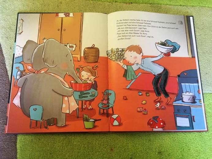 Einblick in das Buch Mein Elefant will nicht ins Bett