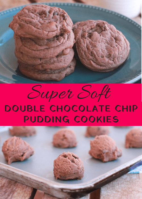 Super Soft Double Chocolate Chip Pudding Cookies - These cookies taste even better than they look. Enjoy!