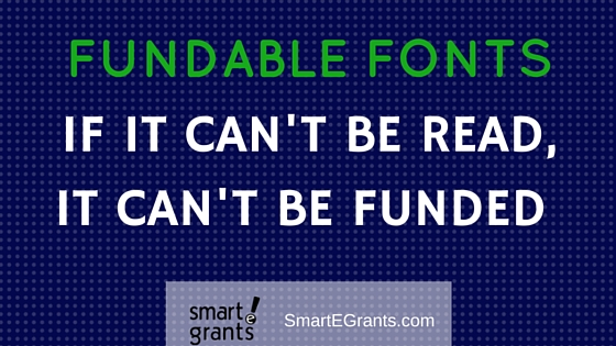 If it can't be read, it can't be funded - Fundable Fonts