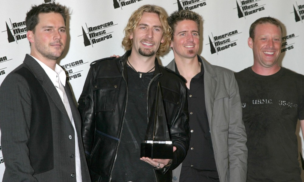 nickelback american music awards 2006 press room 01