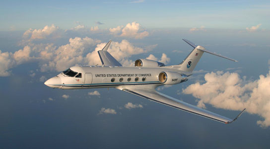 NOAA Gulfstream IV SP Aircraft to Boost North American Weather Forecasting