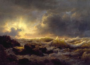 800px Andreas Achenbach Clearing Up—Coast of Sicily Walters 37116