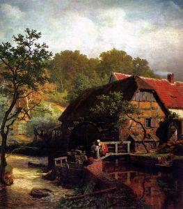 Achenbach Andreas Westfalische Wassermuhle