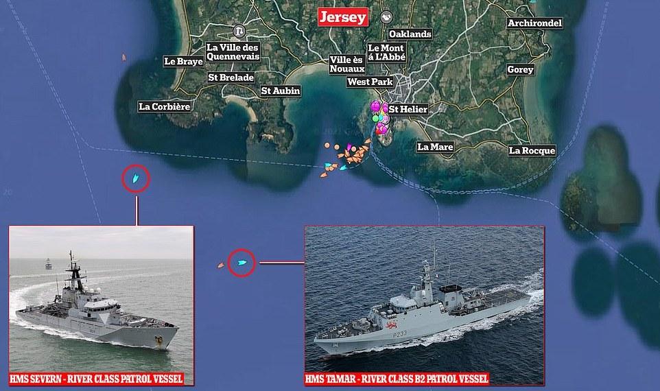 Status de dependência da coroa de Jersey desafiado por 'diplomacia do barco de guerra'