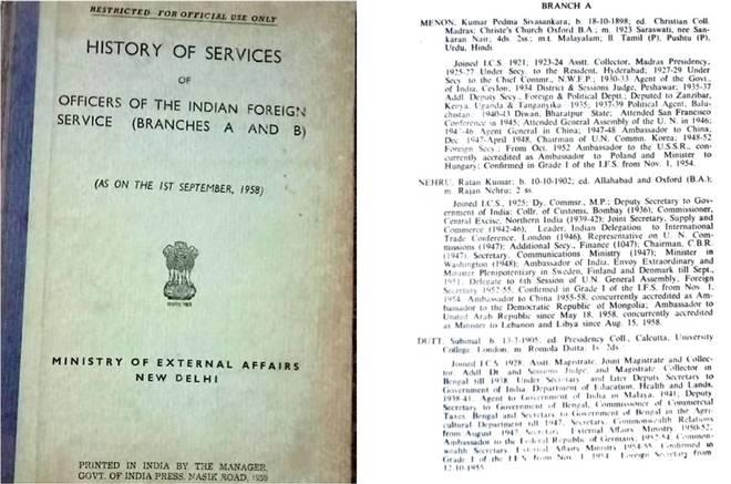 Quando Nehru quis diplomatas que viajavam pelo mundo num Livro