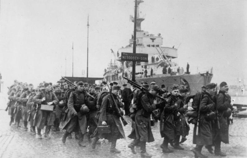 The German Invasion of Norway 1940 HU55638