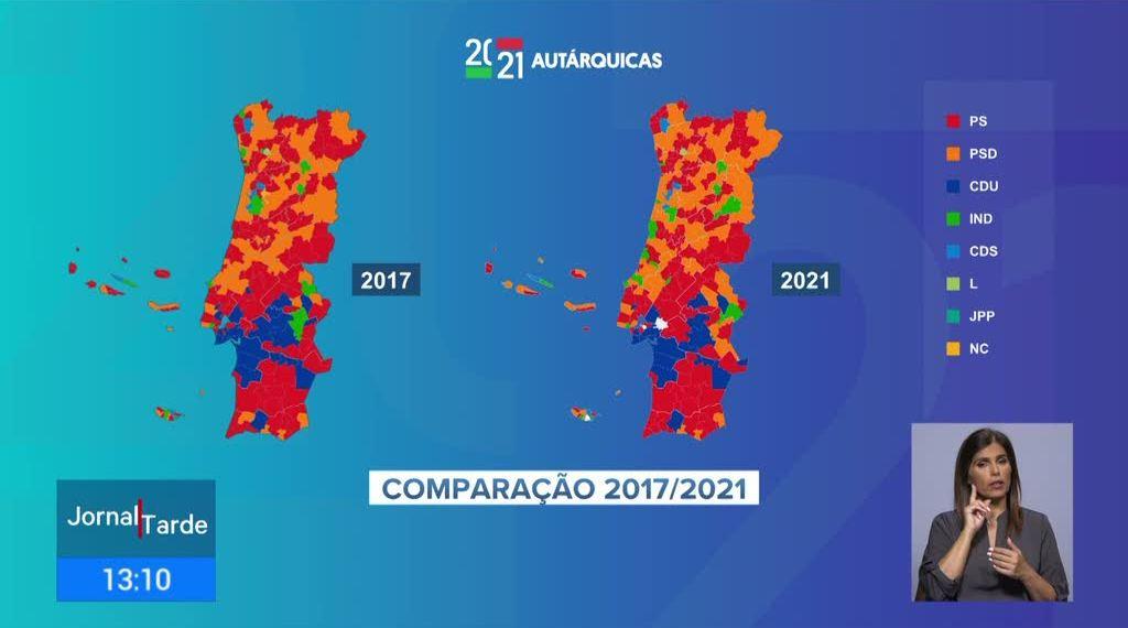 Resultados das Autárquicas 2021