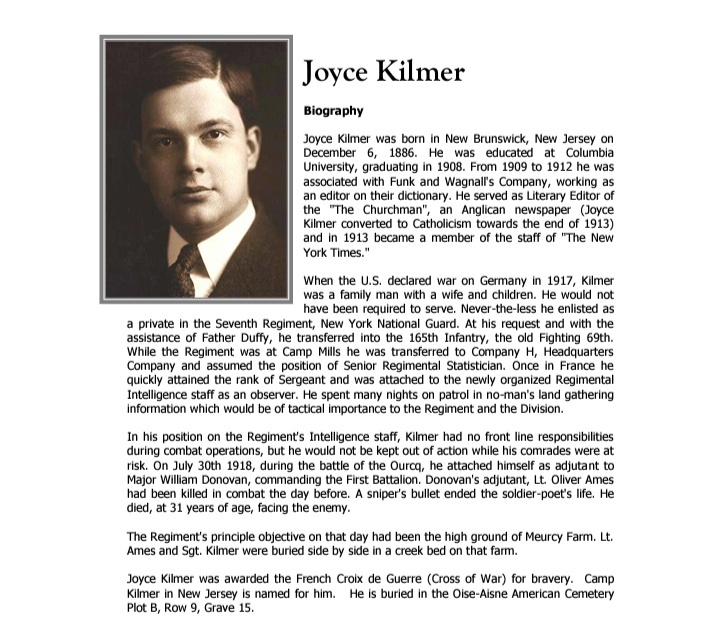 Trees by Joyce Kilmer