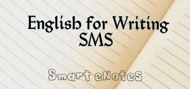 English forWriting SMS