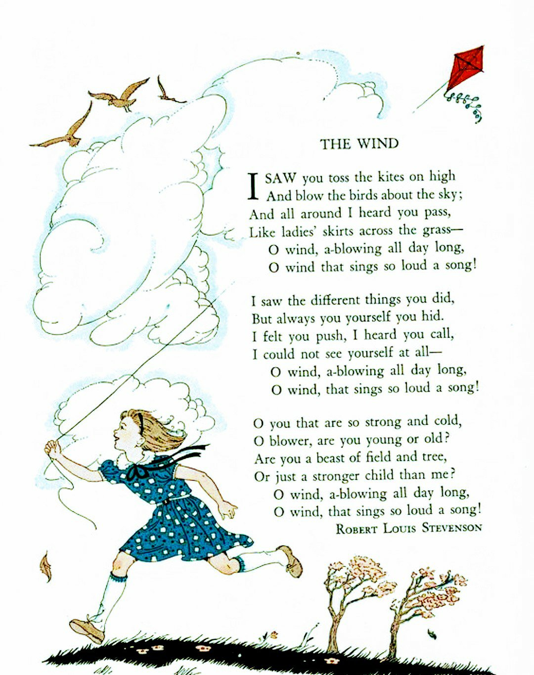 The Wind Robert Louis Stevenson Summary and Question and Answers 1