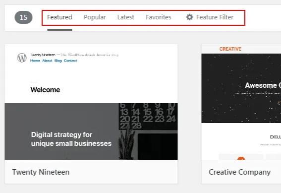 WordPress Theme library - install template - smart entrepreneur blog