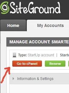 User Area - siteground -nameservers change - smart entrepreneur blog