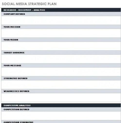 12 months social media plan template