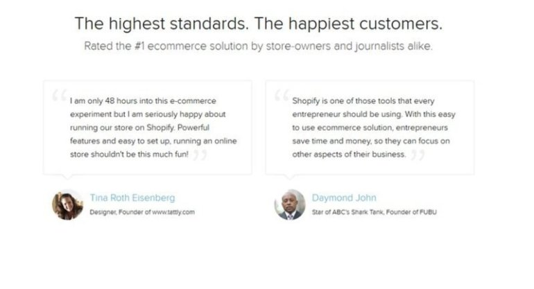 shopify customer reviews - testimonial pages you can steal