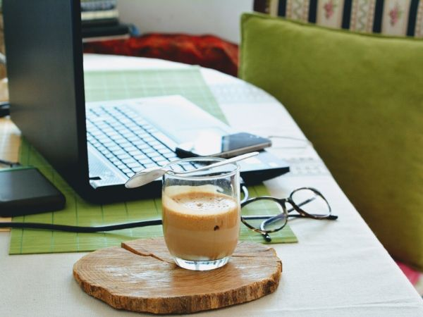 working from home in Nigeria - humble green themed home office