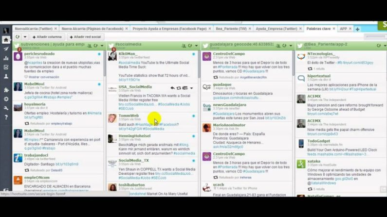 Hootsuite dashboard demonstration