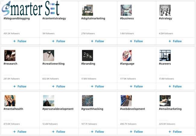linkedin hashtags discover more