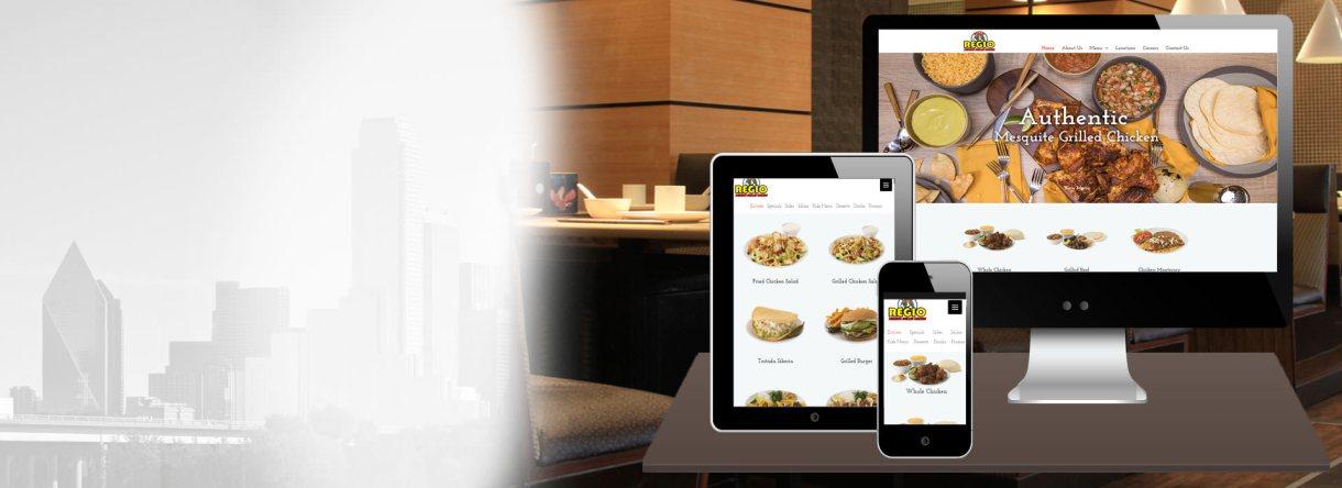 تصميم موقع ويب لمطعم